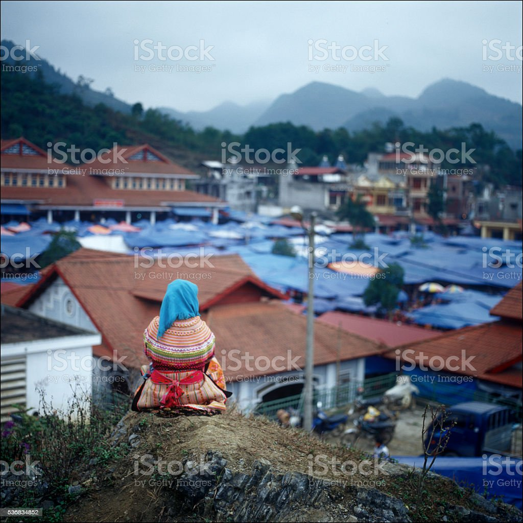 Vietnamese village stock photo