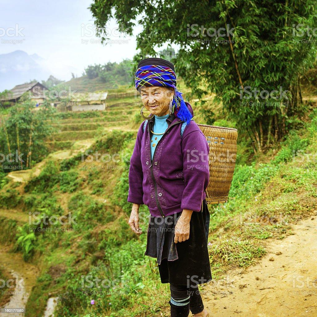 Vietnamese village woman stock photo