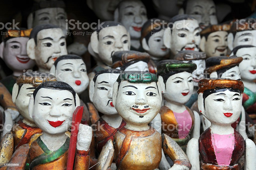Vietnamese Water Puppets Water puppets in Hanoi, Vietnam. Arts Culture and Entertainment Stock Photo