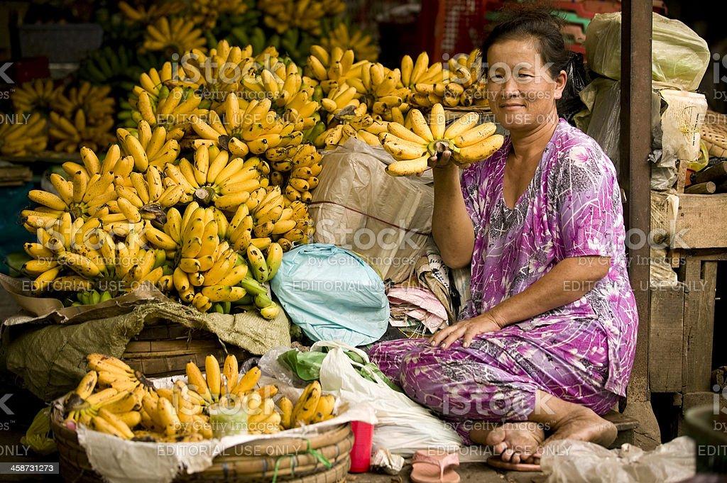 Vietnamese woman market royalty-free stock photo