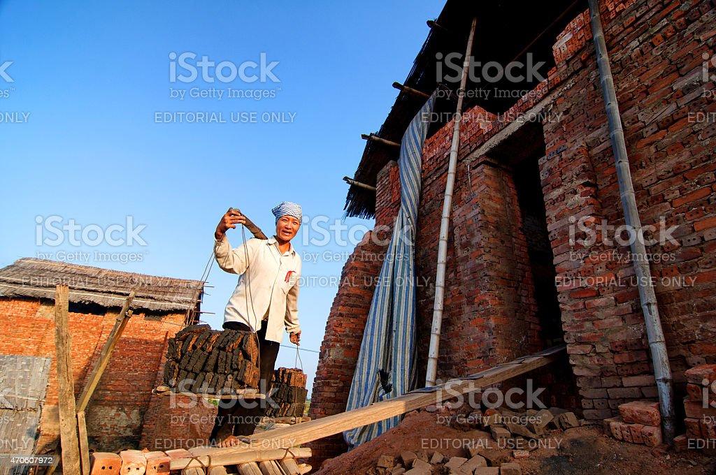 Vietnamese worker stock photo