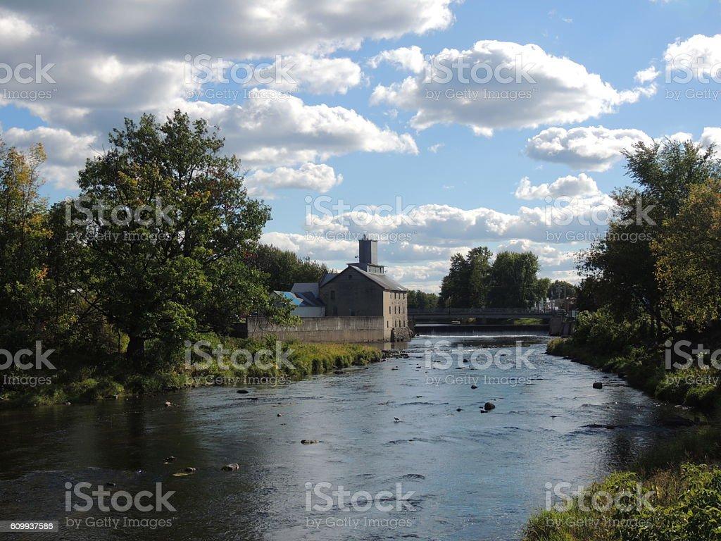 Vieux moulin en ruine-old mills in ruin stock photo