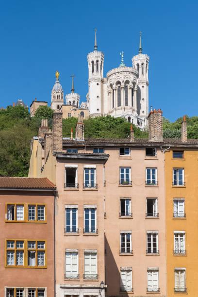 Vieux-Lyon, maisons anciennes colorées - Photo