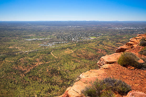 View Above Alice Springs Northern Territory Australia stock photo
