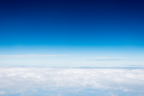 istock View above the clouds, for background 957146640