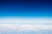 View above the clouds, for background.