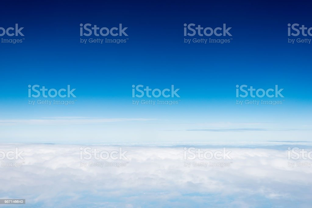 View above the clouds, for background stock photo