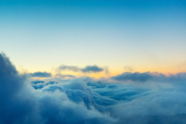 View Above the Clouds View Above the Clouds, Beautiful Sunset Cloudscape high up stock pictures, royalty-free photos & images
