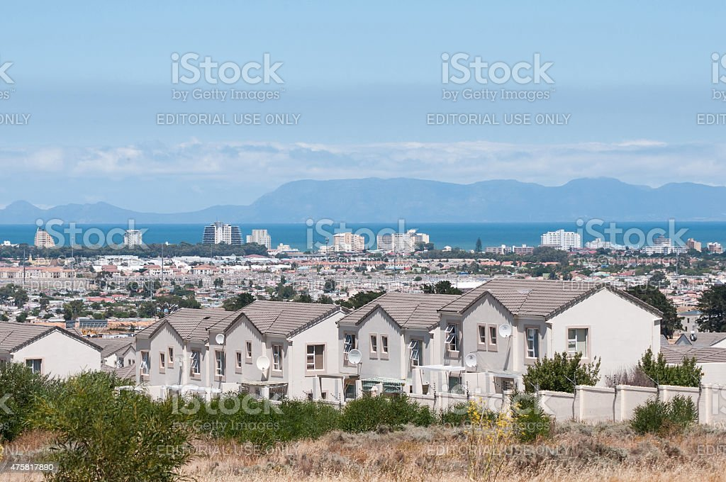 View accross part of Somerset West and the Strand stock photo