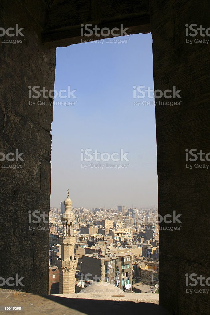 View across Cairo, from a minaret royalty-free stock photo