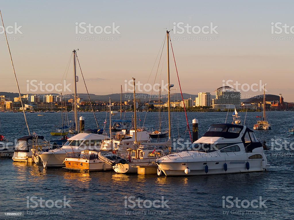 View across Cardiff Bay royalty-free stock photo