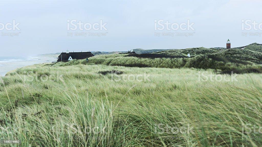 View across coastal dunes royalty-free stock photo