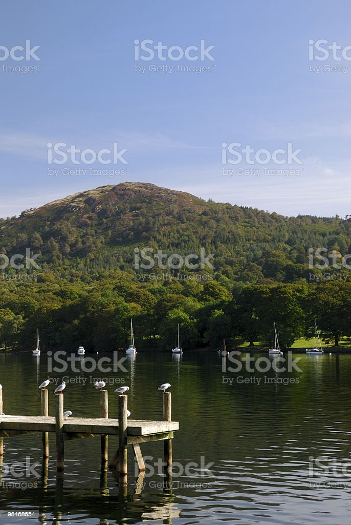 View across lake Windermere royalty-free stock photo