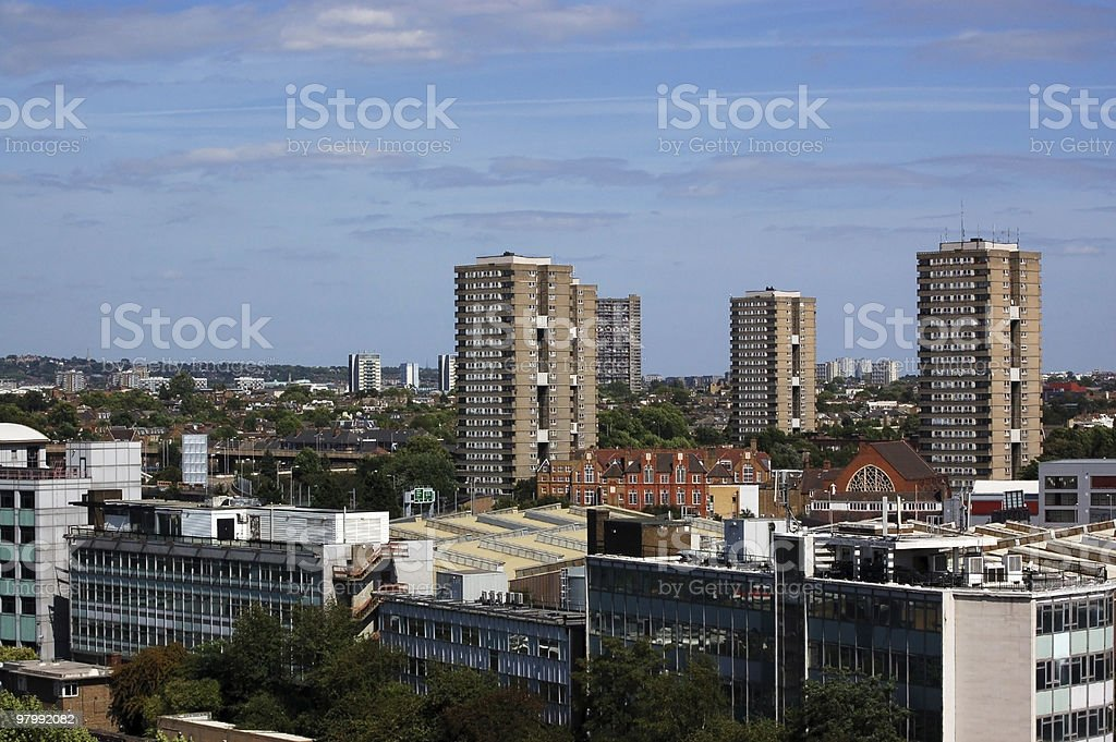 View across North West London royalty-free stock photo
