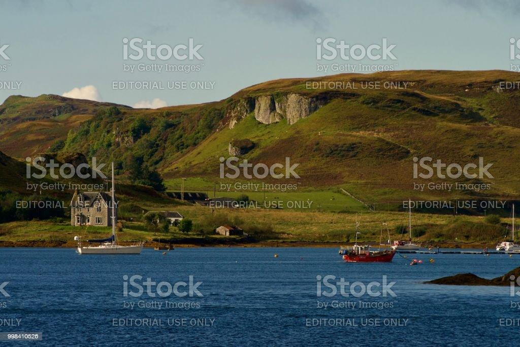 View across Oban Bay towards Kerrera stock photo