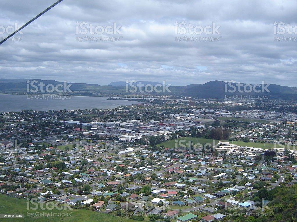 View Across Rotorua stock photo