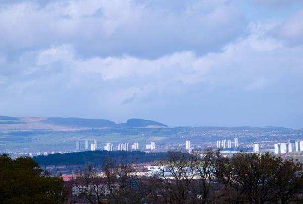 Vista de todo o sudoeste Glasgow - foto de acervo