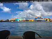 View Across the Harbour from a cafe in Willemstad on the CaribbeanIsland of Curacao