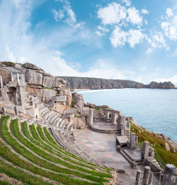 View Across The Minack Theatre In Cornwall, England stock photo