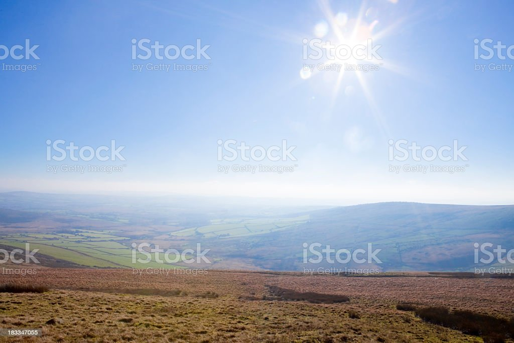 View Across The Preseli Hills royalty-free stock photo