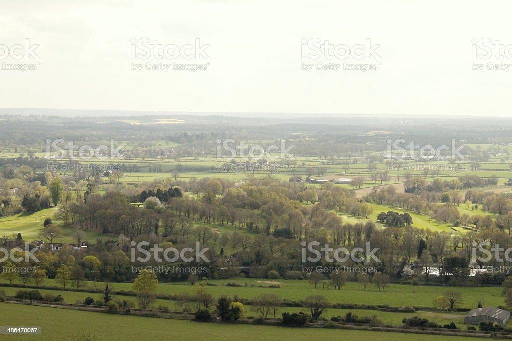 View across the Surrey Hills stock photo