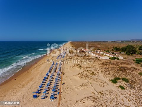 istock View aerial Portuguese beach cemetery anchors. 610968128