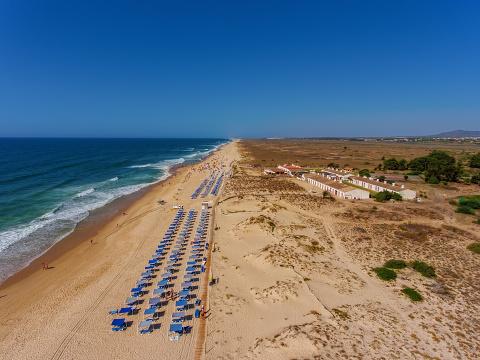 istock View aerial Portuguese beach cemetery anchors. 610968128