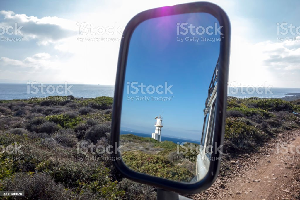 View ahead and view behind stock photo