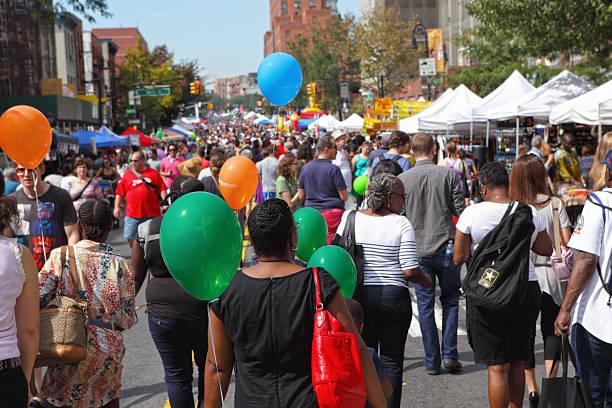 Blick auf den Atlantik-Antic Street Fair in Brooklyn – Foto