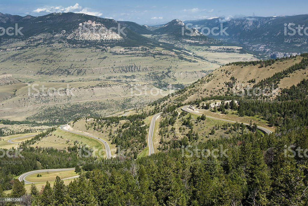 View along Chief Joseph Scenic Byway stock photo