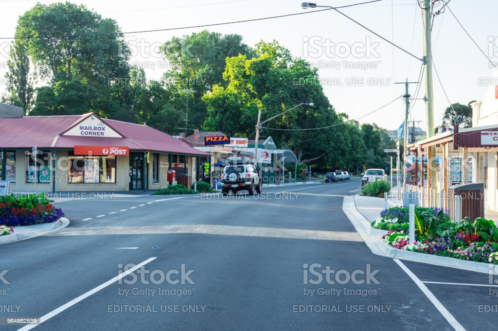 View along Main Street in Foster in South Gippsland, Australia. royalty-free stock photo