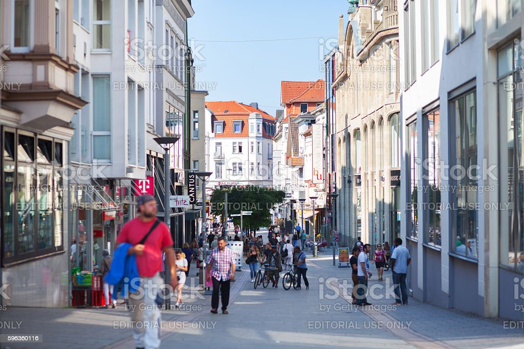 View along pedestrian zone of Iserlohn royalty-free stock photo