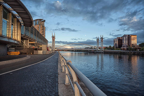 View Along Salford Quays. stock photo