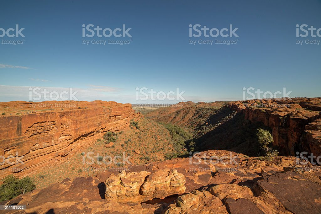 View along the dramatic main gorge of Kings Canyon stock photo