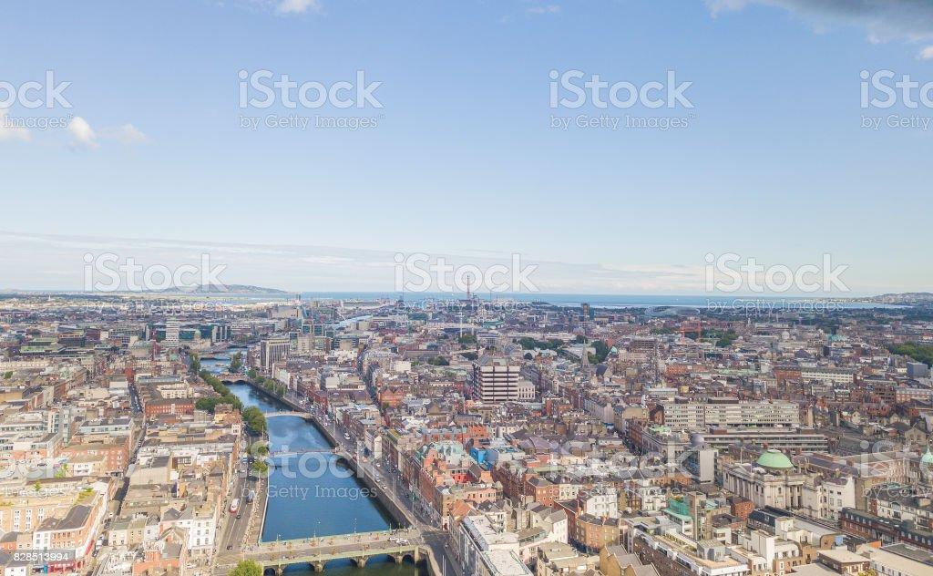View along the River Liffey, Dublin, Ireland. royalty-free stock photo