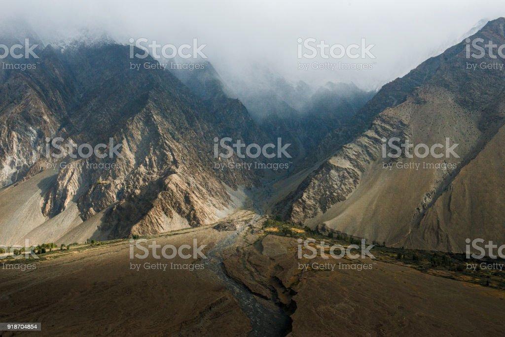 View around Passu village, Pakistan. stock photo