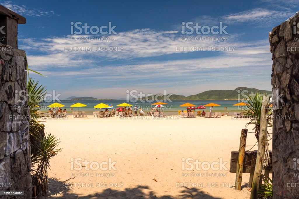 View arriving to Ferradura beach, on a summer sunny day - Royalty-free Arrival Stock Photo