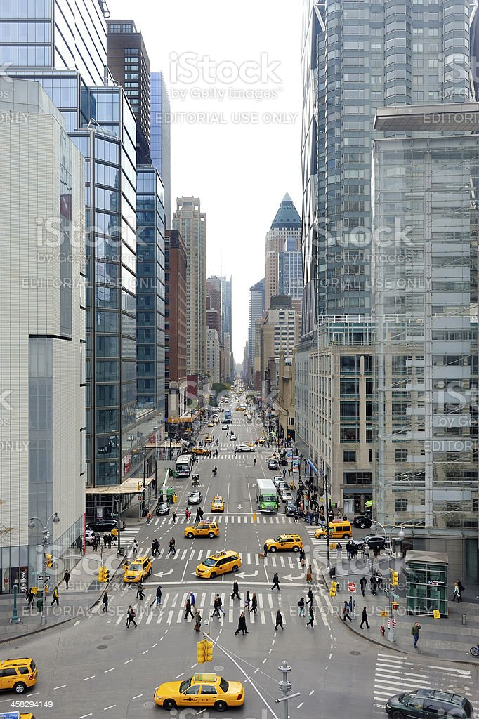 View at 8th Avenue in New York stock photo