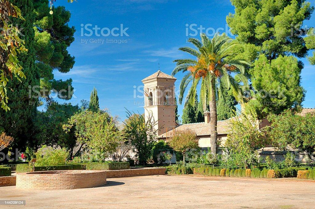 View at Alhambra, Granada stock photo