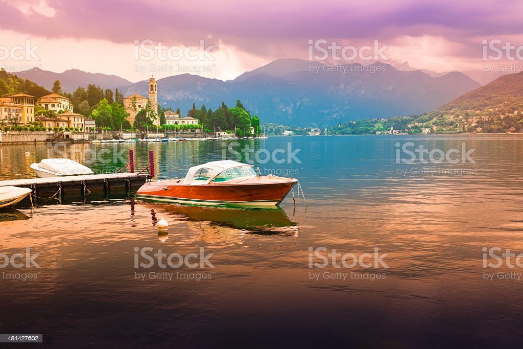 View at Bellagio, Como Lake stock photo