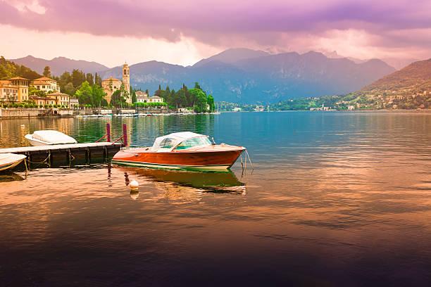 view at bellagio, como lake - lake como stock photos and pictures