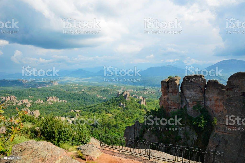 View at Belogradchik Rocks stock photo