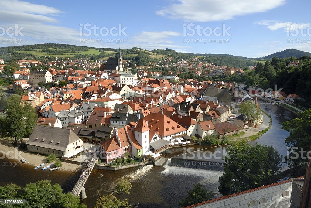 View at Cesky Krumlov stock photo