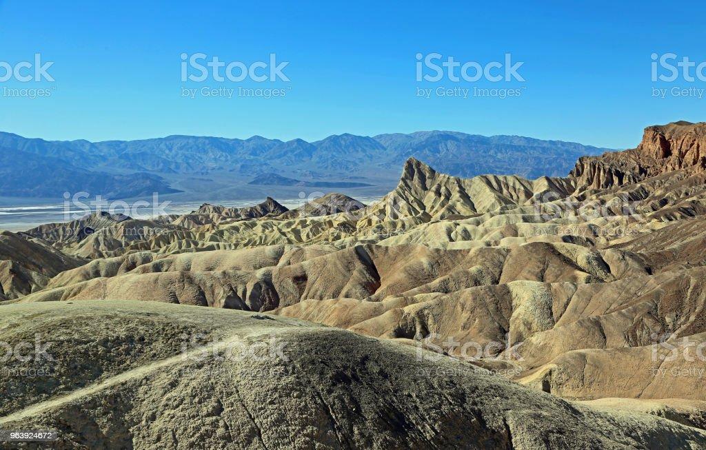 View at Death Valley  -  Zabriskie Point - Royalty-free Badlands Stock Photo