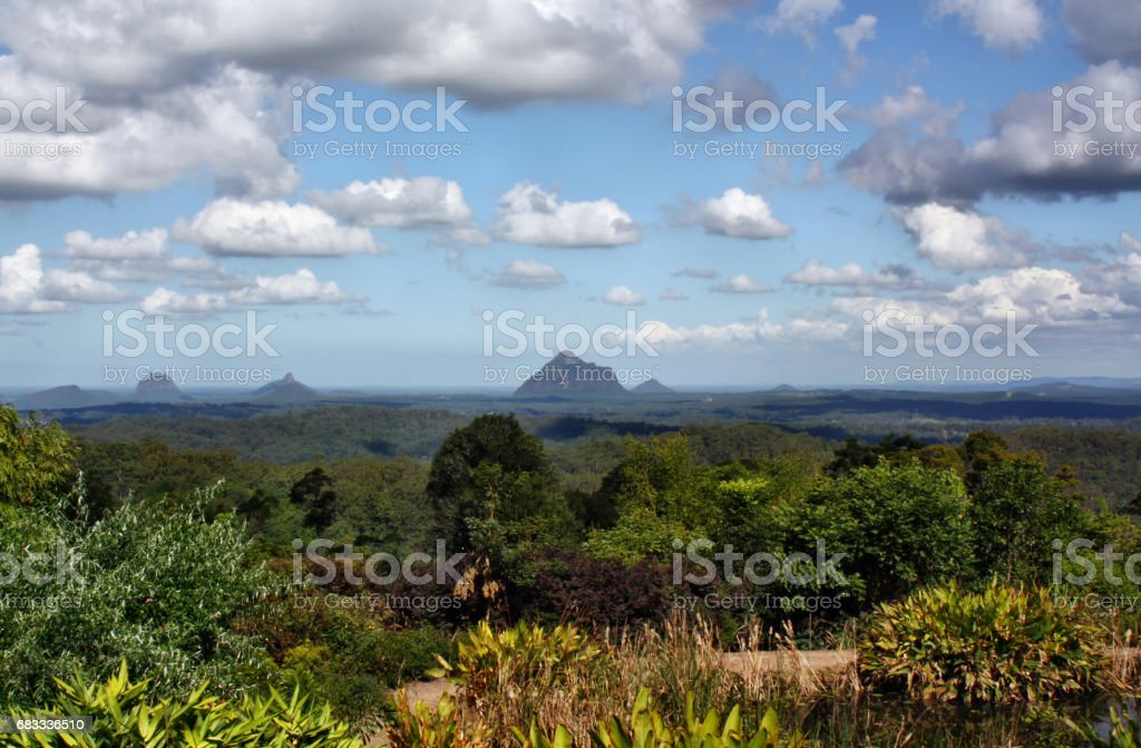 View at Glass House Mountains royalty-free stock photo
