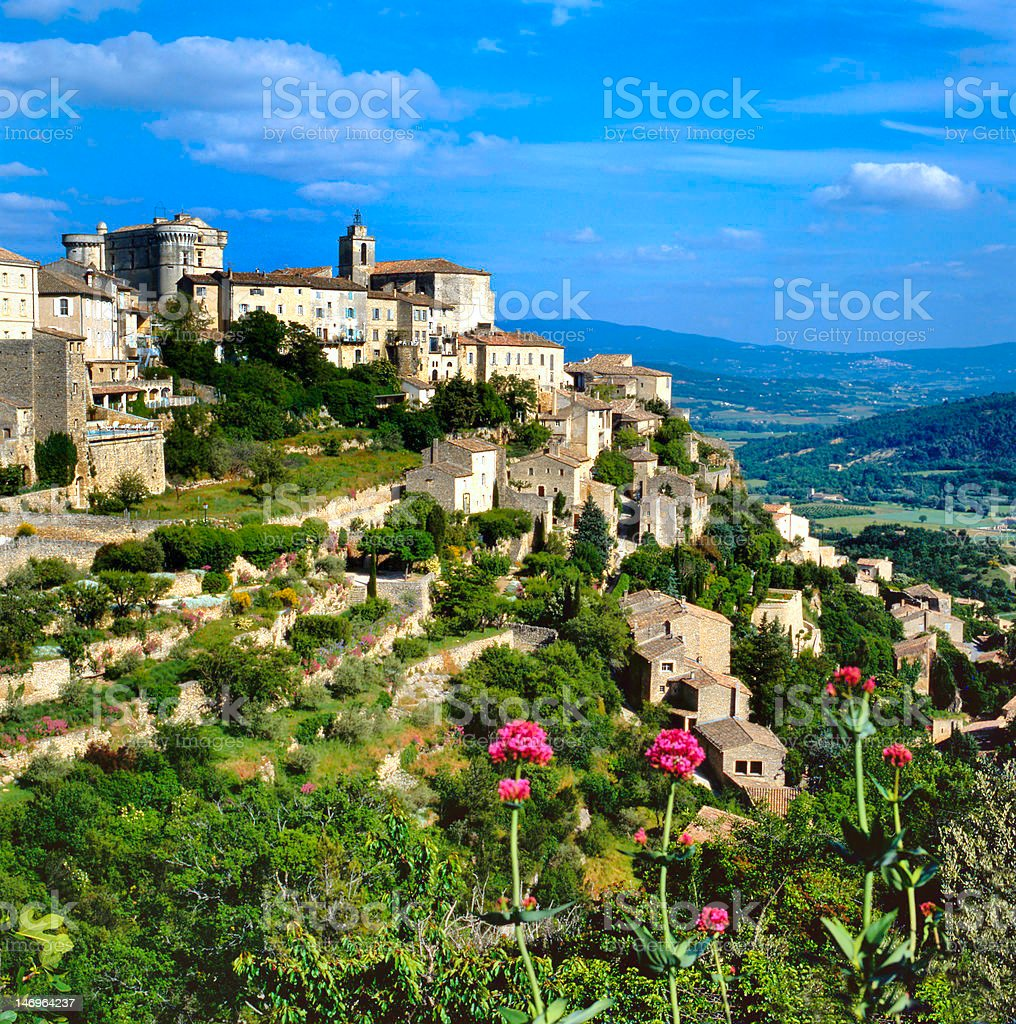 View at Gordes stock photo