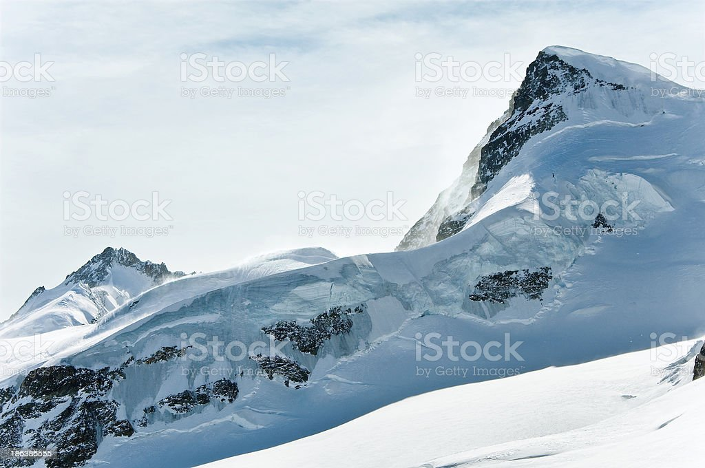 View at huge crystal clear alpine glacier, Switzerland royalty-free stock photo