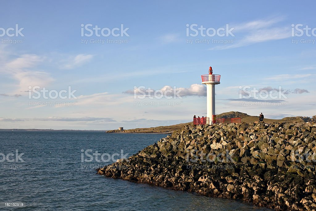 View at Ireland's Eye Island, Dublin, Ireland royalty-free stock photo