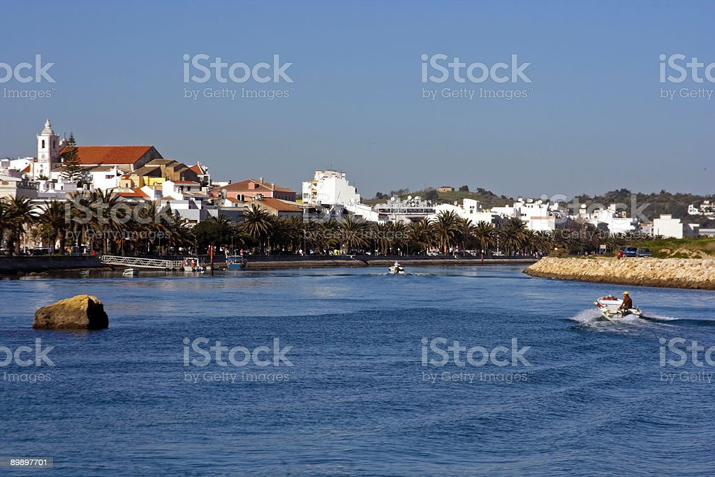 View at Lagos in the Algarve Portugal royalty-free stock photo