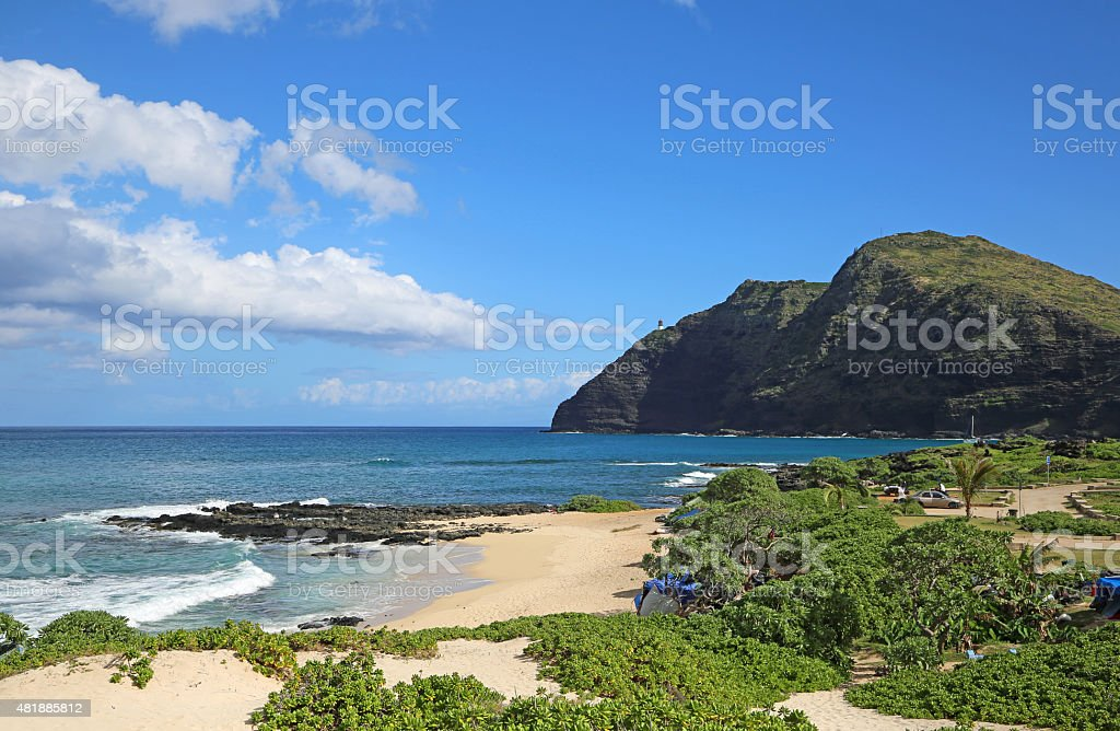 View at Makapuu Point stock photo